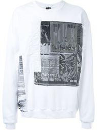 свитер с нашивками  Liam Hodges