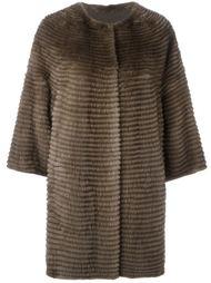 свободное меховое пальто  Liska