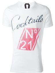 футболка с графическим принтом спереди Nº21