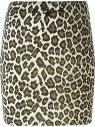 юбка с леопардовым принтом Jean Paul Gaultier Vintage