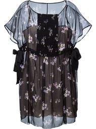 короткое платье с цветочным принтом Red Valentino