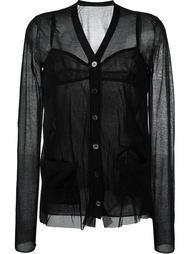 прозрачная блузка  c V-образным вырезом Sacai