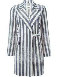 пальто в полоску  Mm6 Maison Margiela