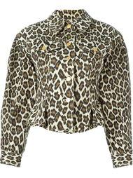 джинсовая куртка с леопардовым принтом Jean Paul Gaultier Vintage