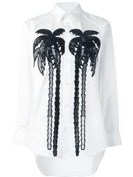 рубашка с изображением пальмы  Dsquared2