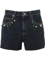 декорированные джинсовые шорты Sonia Rykiel