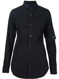 рубашка с карманами на рукавах Yohji Yamamoto