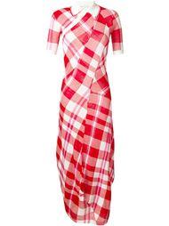 длинное платье-поло в клетку Stella McCartney