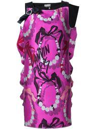 платье-шифт с принтом Lanvin
