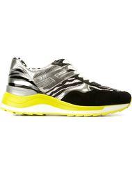 кроссовки с зебровым принтом Hogan Rebel