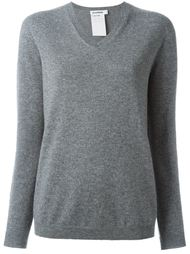 свитер с V-образным вырезом Jil Sander