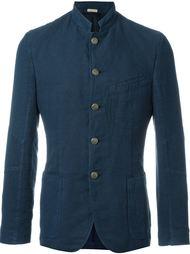 приталенный пиджак с воротником-мандарином Massimo Alba