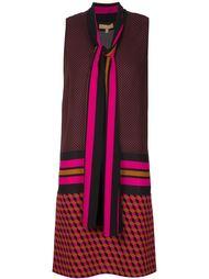 платье-шифт с геометрическим принтом Michael Kors