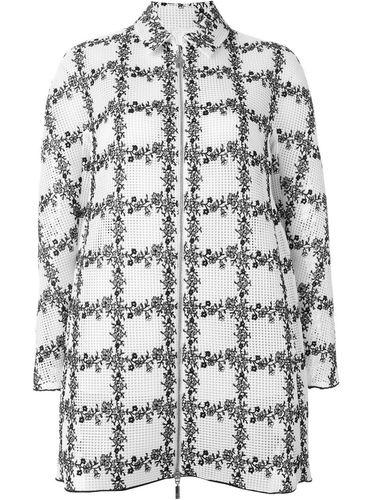 куртка на молнии с вышивкой Moncler Gamme Rouge