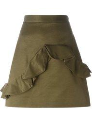 мини-юбка с рюшами MSGM