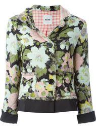 тканый пиджак с цветочным узором Moschino Vintage
