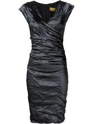 платье с оборками  Nicole Miller