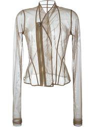 прозрачная куртка на молнии  Rick Owens Lilies