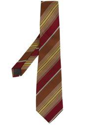 галстук в диагональную полоску Romeo Gigli Vintage