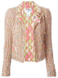 трикотажный пиджак букле Chanel Vintage