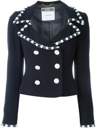 двубортный пиджак Moschino Vintage
