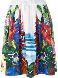 юбка с тропическим принтом Dsquared2