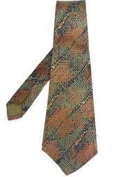 галстук с вышивкой крестом Lanvin Vintage