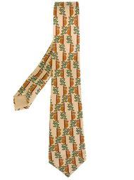 галстук с принтом коал Hermès Vintage