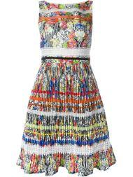 плиссированное платье с цветочным принтом  Si-Jay