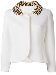 пиджак с леопардовым воротником Maison Margiela