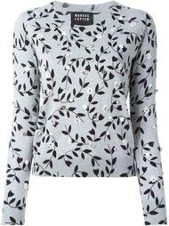свитер с цветочным принтом  Markus Lupfer