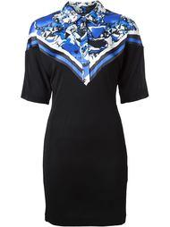 платье-поло с контрастными панелями Roberto Cavalli