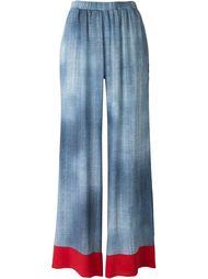 брюки с джинсовым принтом Fendi