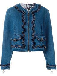 джинсовая куртка на молнии Moschino Vintage