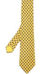галстук с плетеным принтом Hermès Vintage