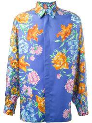 рубашка с цветочным принтом Versace Vintage