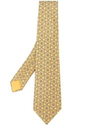 галстук с мелким узором Hermès Vintage