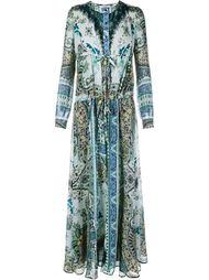 платье в пол с узором пейсли Etro