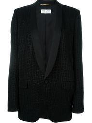 пиджак с эффектом крокодиловой кожи Saint Laurent