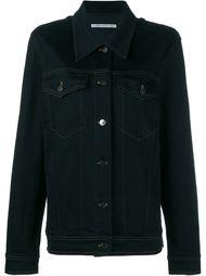 джинсовая куртка с украшением из кристаллов Alessandra Rich
