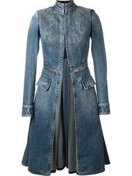 расклешенное джинсовое пальто  Alexander McQueen