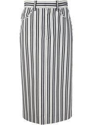 юбка в полоску Marc Jacobs