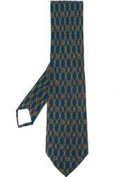 галстук с веревочным узором Hermès Vintage