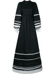 длинное платье с полосками Vika Gazinskaya