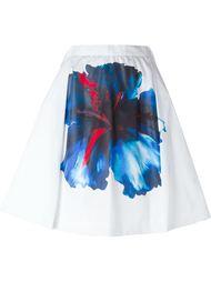 плиссированная юбка с цветочным принтом Dsquared2