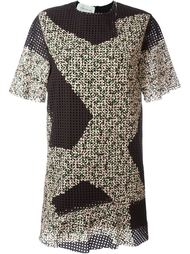 перфорированное платье  Cédric Charlier