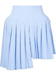 плиссирвоанная юбка с асимметричным подолом Julien David