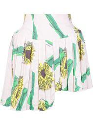 плиссированная юбка с принтом подсолнухов Julien David