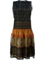платье с панельным дизайном  Alberta Ferretti