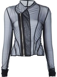 прозрачаная куртка на молнии  Rick Owens Lilies